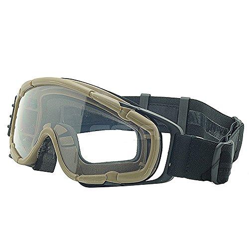 Worldshopping4U Gafas de protección SI-Ballistic para bicicleta, ciclismo, conducción, airsoft, esquí, snowboard, 3 colores (negro, DE, rosa) (DE)