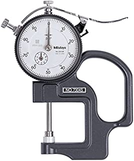 0-50 Dial Reading Starrett 1015A Inch Reading Portable Dial Indicator 1015A-431J Thickness Gauge Without Case 0.0005 Graduation 1//2 Range