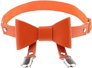 Prettyia Fashion Bowknot Leather Adjustable Tight Suspender Leg Garter Belt Anti-Slip Clips Elastic Punk Harness Garter Belt Thigh Ring for Women
