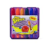 Mr. Sketch 1951332 Scented Twistable Gel Crayons, Assorted Colors, Pack of 6