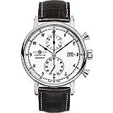 Zeppelin Herren-Armbanduhr Nordstern Chronograph Quarz Leder 75781