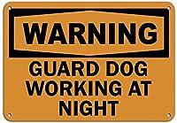 コレクターの壁アートインチガード犬夜働くペット動物ヴィンテージ金属ティンサインバー壁パブ家の装飾ティンサインポスターのレトロな装飾