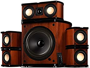 Swan Speakers - M20-5.1 - 5.1 Powered Bookshelf Speakers - Wooden Cabinets - 65W RMS 8