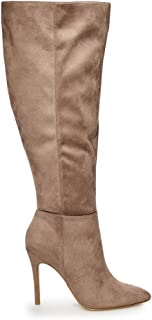 Charles David Charles Dilly Taupe Zipper Stiletto Heel Over-The-Knee Boots