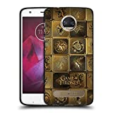 Head Case Designs Licenciado Oficialmente HBO Game of Thrones Todas Las Casas Sigils de Oro Funda de Gel Negro Compatible con Motorola Moto Z2 Play