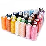 Candora 30 farbige Spulen Nähgarn je 229 Meter, Polyester, für manuelles und Maschinennähen
