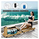 Skboy Rowing Machines, Foldable Belt Drive Rower Exercise Equipment with LCD Monitor (Include Phone...