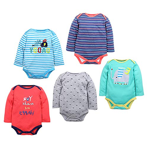 ZEVONDA Body Bebés Niños y Niñas - Pijamas de Recién Nacido Manga Corta/Manga Larga/Mameluco...