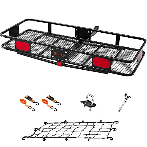 KING BIRD Upgraded 60' x 24' x 6' Hitch Mount Folding Cargo Carrier Fits to 2'' Receiver,500LBS...