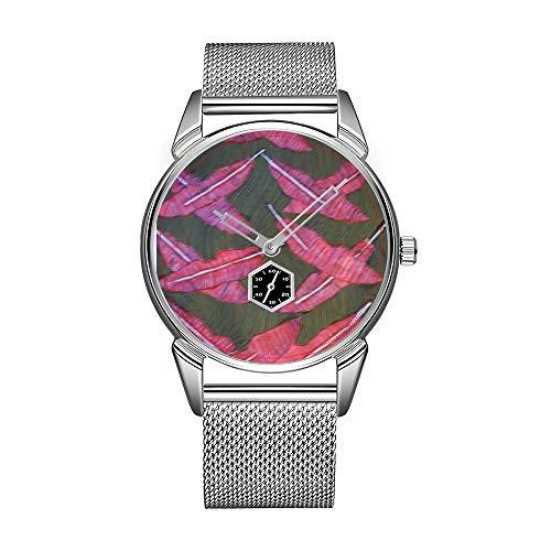 Mode herenhorloge zilverkleurig roestvrij staal waterdicht horloge mannen top merk herenhorloge vallen veren dameshorloge heren alle stijlen