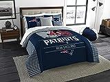 New England Patriots Draft - 3 Piece King Size Bedding Comforter Set - Includes: Comforter & Shams - NFL Home Decor Logo Bedding Accessories