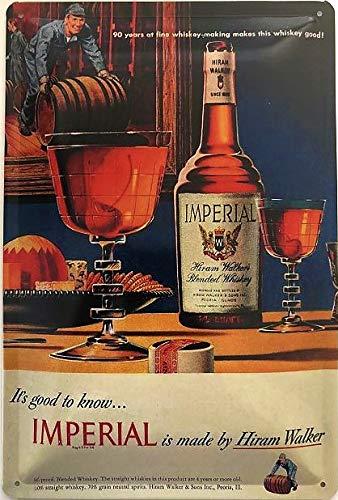 Deko7 blikken bord 30 x 20 cm Imperial Mixd Whiskey