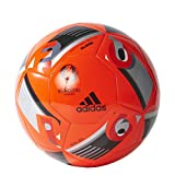 adidas Herren Ball Euro 2016 Glider, Solar Red/Black/Iron Met, 5