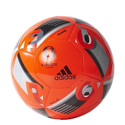 adidas Euro 16 Glider Pelota de fútbol, Hombre, Rojo/Negro, 5