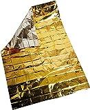 Coperta di Emergenza Sopravvivenza, 10 Pacchi Coperta Isotermica Oro Argento, Ideale per Esterni, Escursioni, Sopravvivenza, Maratone o Primo Soccorso, 210 x 160cm