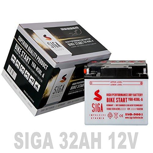 Preisvergleich Produktbild Motorrad Batterie 32AH 12V 320A / EN Y60-N30L-A 53030 30Ah Rasentraktor Aufsitzmäher