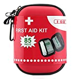 I GO Compact First Aid Kit - Hard Shell Case for Hiking, Camping, Travel, Car - 85...