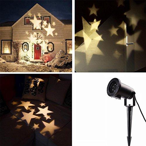 Locisne Indoor/Outdoor landschap-projector-lamp-feestdagen-party kerstboom tuin binnenplaats podium huisdecoratie IP44 LED beweegbare snowflake/sterren-schijnwerper
