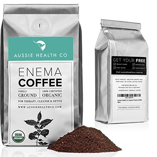 AUSSIE HEALTH CO 419° Roasted Organic Enema Coffee - 1 Pound Bag - Ideal for Gerson Coffee Enemas and Cleanses - 100% USDA Certified Organic, Pre-Ground Beans, Made in Seattle