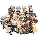 Tosbess 12 Piezas Minifiguras y Arma,Militar Soldados Mini Figuras,Bloque de construcción para Niño Adulto
