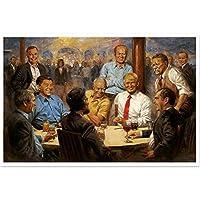 帆布の絵 新しいドナルドトランプ大統領の絵画偉大な米国のポスターは、家のリビングルームの装飾のためのヴィンテージアートキャンバスの壁の写真を印刷します 60x80cm