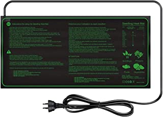"""HOMYL MET Certified Seedling Heat Mat with 70℉~85℉ Digital Thermostat Controller for Seed Germination (10"""" x 20"""")"""