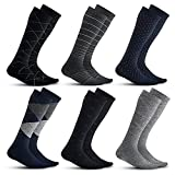 Men's Compression Socks (6-Pack) – L/XL – Multicolored - Graduated Muscle Support, Relief and...