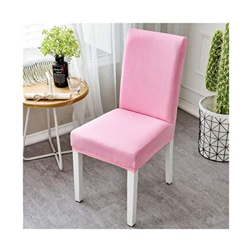 JUZHANG 10 stücke Stretch Stuhlabdeckung Siamese Haushalt Halbe Tasche Stuhl Set Hotel Hochzeit Stuhlabdeckung weich (Color : Pink)