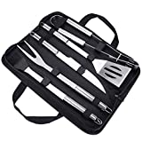 Achort BBQ Tools Set, 5pcs BBQ Grilling Tool Set with Black Case, Stainless
