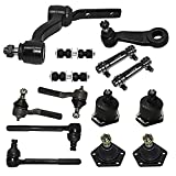 Detroit Axle - 4WD Front Inner & Outer Tie Rod End + Upper Lower Ball Joints + Sway Bar w/Adjusting Sleeves, Pitman & Idler Arm Replacement for Chevy S10 Blazer GMC Jimmy Olds Bravada - 14pc Set