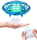 XINHOME Hand Operated Drones for Kids Adults - Mini Remote Control Drone with 2 Flying Modes, 2 Speeds, 3D Flip, Altitude Hold, LED Light, Easy Indoor Flying Ball Drone Toys for Boys and Girls Gift