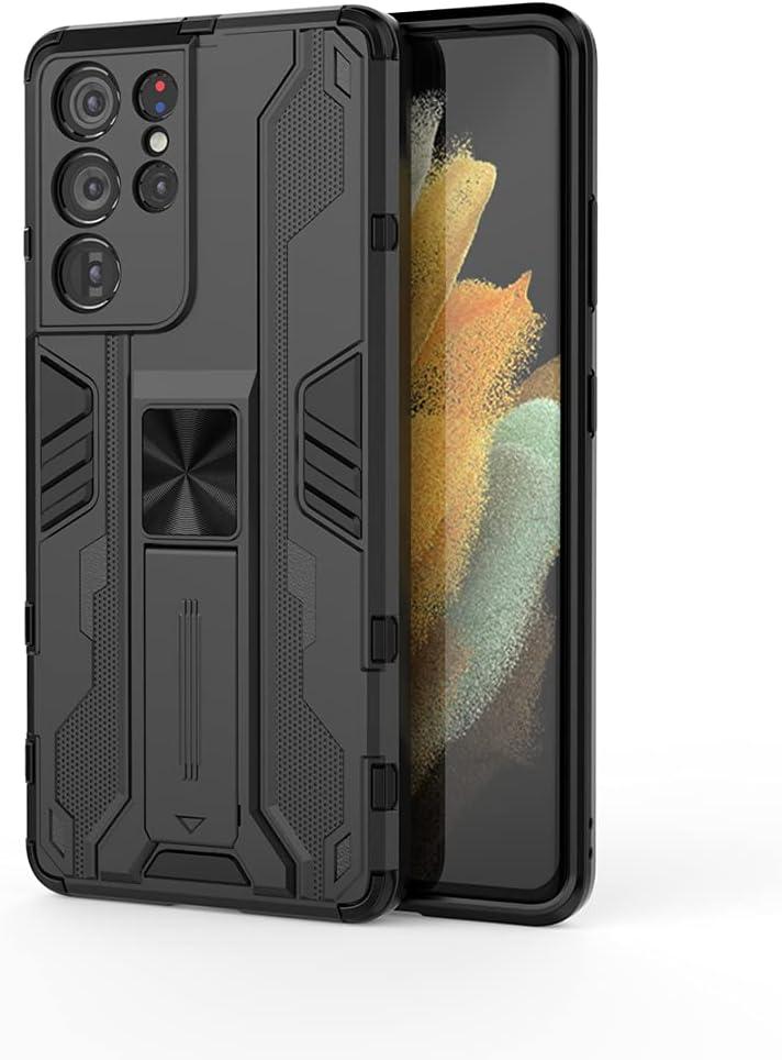 جراب Samsung Galaxy F02s، جراب واقٍ متين ومتين ومقاوم للصدمات مع مسند للرأس، جراب واقٍ مضاد للصدمات لهاتف Samsung Galaxy F02s - أزرق
