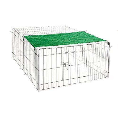 ESTEXO Nager - Freilaufgehege, Stahl verzinkt, Auslauf, Hasen, Kaninchen, Freigehege, Freilauf, Nager, Sonnenschutz