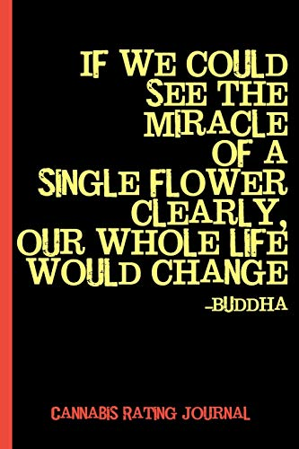 See the Miracle, Buddha Quote : Cannabis Rating Journal Notebook: Personal Marijuana Review for Pain, Anxiety, Depression, & Other Medical Conditions (Medical & Recreational Use)