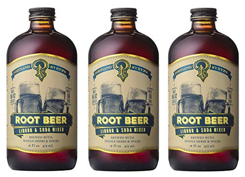 Portland Soda Works, Syrup Cocktail And Soda Root Beer, 16 Ounce - 3 Pack