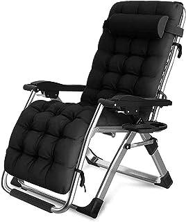 FVGBHN Folding Recliner Sun Loungers Zero Gravity Chairs | Garden Outdoor Patio Sun Loungers | Folding Reclining Chairs Re...