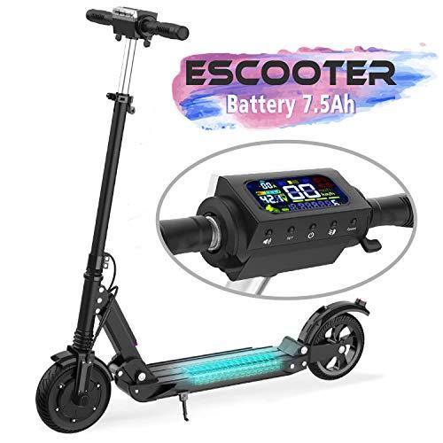 MARKBOARD Elektro Scooter Faltbar City Roller Elektroroller 7,5 Ah Langlebig Akku, 350W bis 30 Km/h 8 Zoll Fahrzeug Klappbar Elektroscooter E Roller Scooter (schwarz)