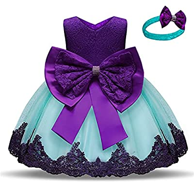 NNJXD Girls' Tulle Flower Princess Wedding Dress For Toddler and Baby Girl