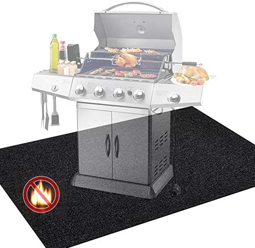 Pakoula Under The Grill Mat Protective 36 x 50 Fire Pit Mat BBQ Washable Floor Mats Outdoor product image