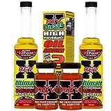 REV X Super Ultimate Kit for Diesel - 4oz High Performance Oil Additive (2) + 8oz Ultimate Fuel Treatment (2)