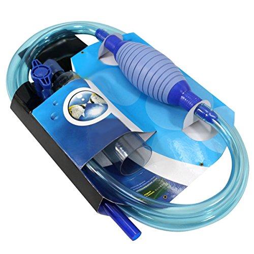 Blue BD Aquarium Reiniger, Siphon und Reiniger für Aquarium und Fischtank Wasserwechsler Wasserfilter Syphon Gravel Cleaner