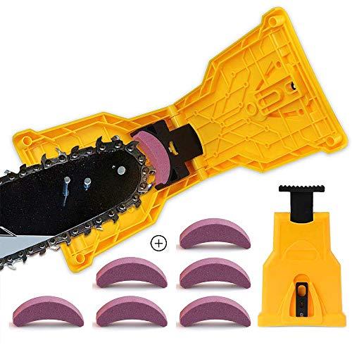 Pemedor Kettensägen-Schärfer für Kettensäge, tragbar, langlebig, einfache Leistung, scharf, schnelles Schleifen, Kettensäge, Kettenschärfer, Werkzeug