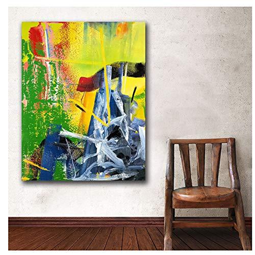 nr Drucke Wandkunst Gerhard Richter Korn Gemälde Wohnzimmer Wohnkultur Ölgemälde auf Leinwand Wandmalerei -50x70cm Rahmenlos