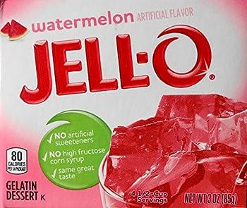 Jell-O Watermelon Flavor Gelatin Desert 3 Ounce  85g  Box  3 Packs