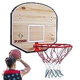 Over Door Basketball Hoop,Extra Large 31.5x23.5inch Indoor Basketball Goal Wooden Backboard Door Hanging&Wall Mounted Basketball Hoop 17.7 inch Sport Activities Gift Toys for Teens Boys(Style 2)