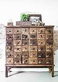 STUFF Loft FACTORY - Cómoda con 36 cajones (madera reciclada, 105 x 32 x 110 cm)
