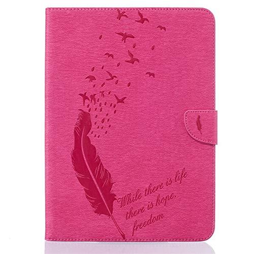 GHC PAD Tauchen Hüllen, Für Samsung Galaxy Tab A 8.0, Retro Tablet-Druck PU-Leder Fall-Tablette-Abdeckungs-Fall + Schirm Schutz Fall Für Samsung Galaxy Tab 8.0 A T350 SM-T355 8 \'\' (Farbe : Rose red)