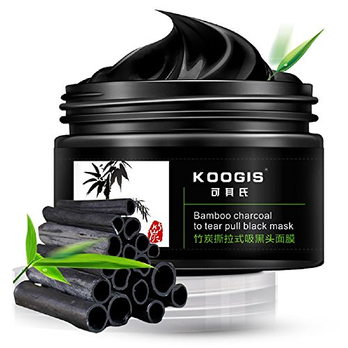 Read About KOOGIS Bamboo Charcoal Tearing Blackhead Removal Mask Deep Clesing Acne Facial Nose