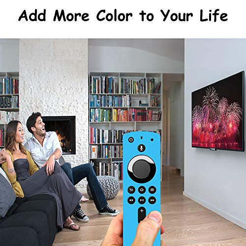 Covers for All-New Alexa Voice Remote for Fire TV Stick 4K, Fire TV Stick (2nd Gen), Fire TV (3rd Gen) Shockproof Protective Silicone Case (Sky)
