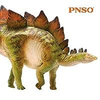 PNSO ステゴサウルス ジュラシック 装甲 剣竜類 恐竜 リアル フィギュア PVC プラモデル おもちゃ 科学 芸術 模型 恐竜好きのこども 孫への誕生日 プレゼント プレミアム 17.6cm級 オリジナル インテリア 塗装済